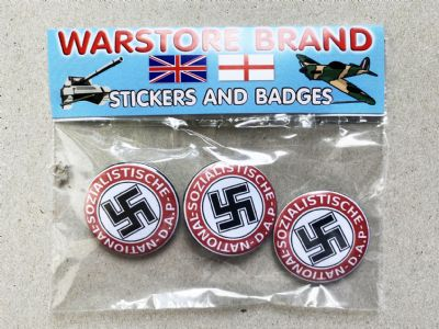 NATIONAL SOZIALISTISCHE D.A.P.  - BUTTON BADGE PACK OF 3